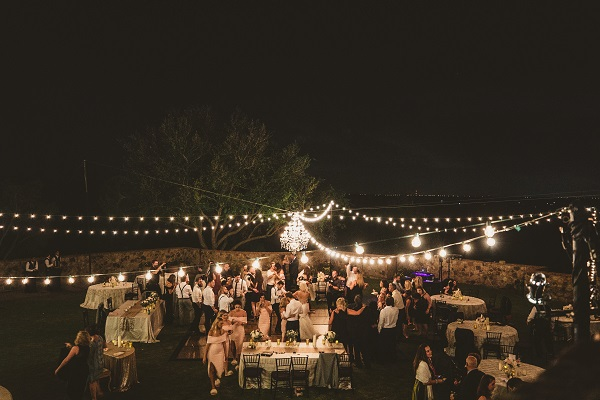 Bella Collina Fall Wedding-Outdoor Night Reception-A Chair Affair