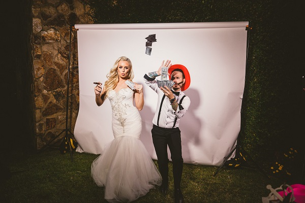 Bella Collina Fall Wedding-Photo Booth Bride and Groom- A Chair Affair