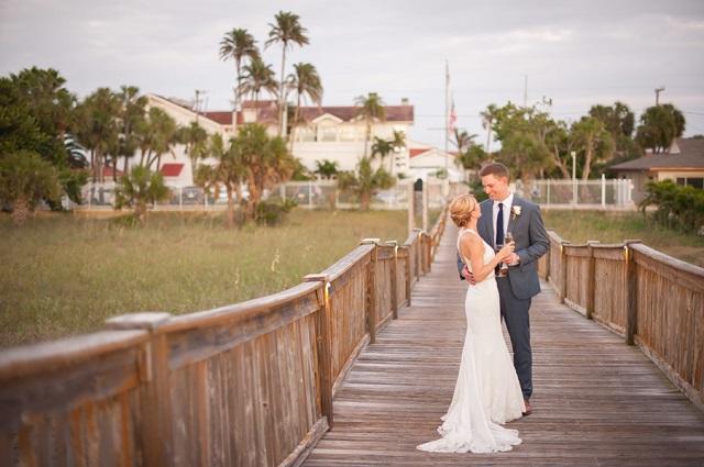 Carlouel-Yacht-Club-Old-Florida-Wedding-Bride-and-Groom-Wood-Deck-A-Chair-Affair