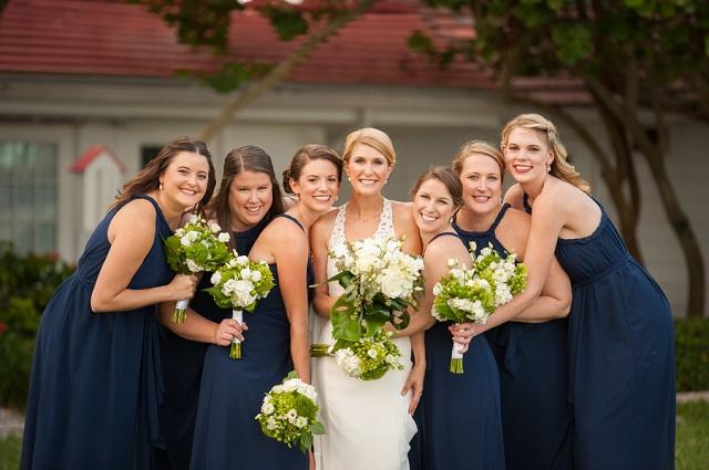 Carlouel Yacht Club Old Florida Wedding-Navy Blue Bridesmaids-A Chair Affair