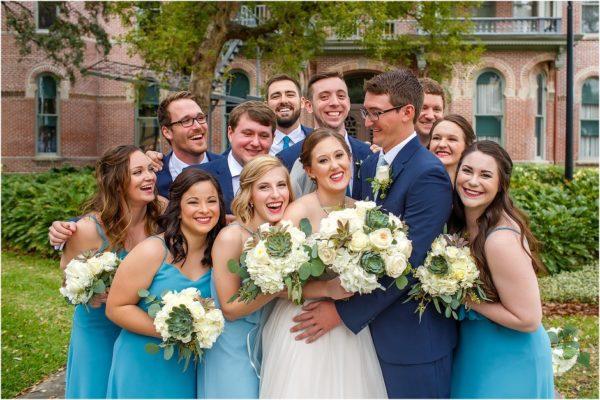 Davis Island Garden Club Outdoor Wedding- Bridal Party-A Chair Affair