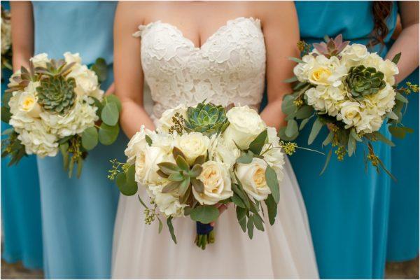 Davis Island Garden Club Outdoor Wedding- Succulent Bouquets- A Chair Affair