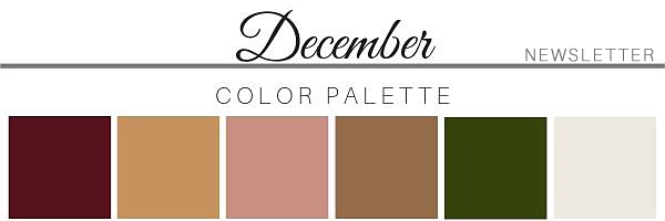 December Color Palette - A Chair Affair