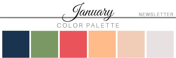 January Color Palette - A Chair Affair
