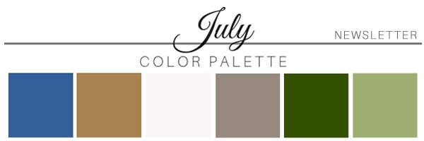 July 2019 color palette - A Chair Affair Rentals