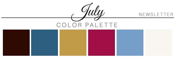 July Color Palette - A Chair Affair