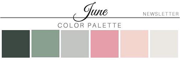 June Color Palette - A Chair Affair