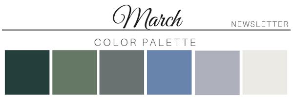 March Color Palette - A Chair Affair