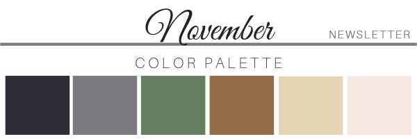 November Color Palette - A Chair Affair