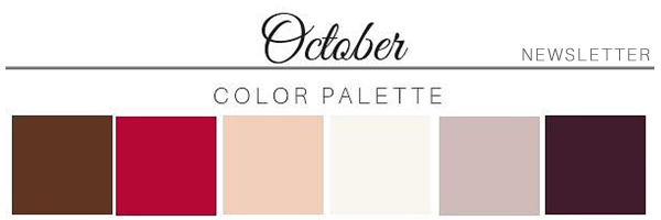 October Color Palette - A Chair Affair