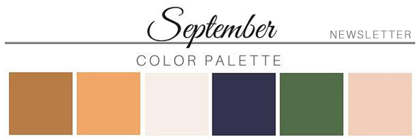 September Color Palette - A Chair Affair