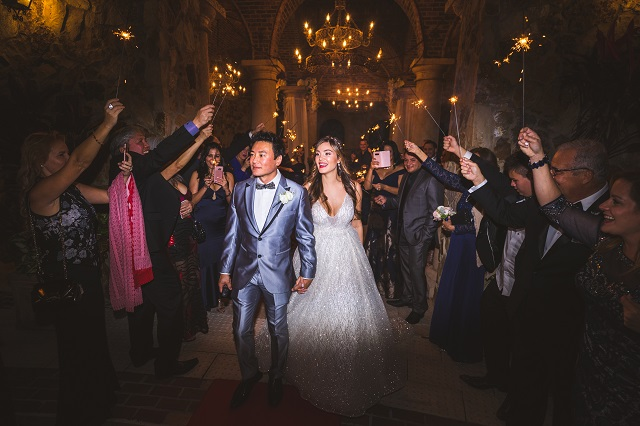 Bella Collina Wedding-Sparkler Exit-A Chair Affair.jpg
