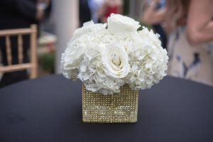 Private Home Engagement Party- floral centerpiece-a chair affair