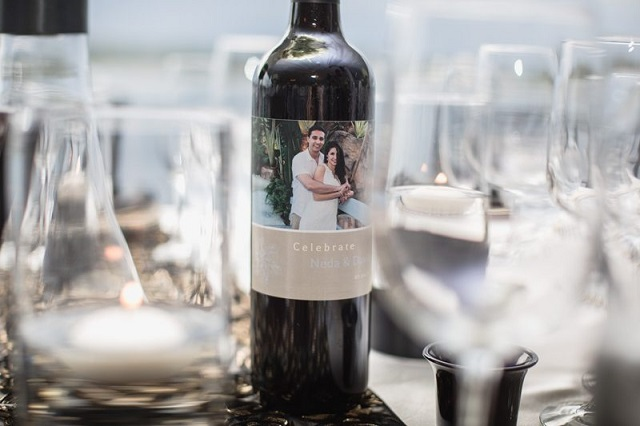 Private Home Engagement Party-personalized wine bottle-a chair affair