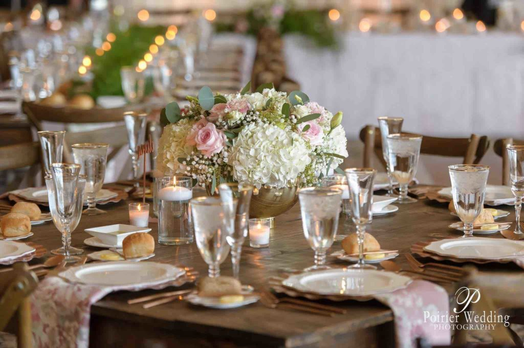 Valisha and Philip Pastel and Gold Bella Collina Wedding A Chair Affair Gold Rim Stemware Gold Rim Water Goblets