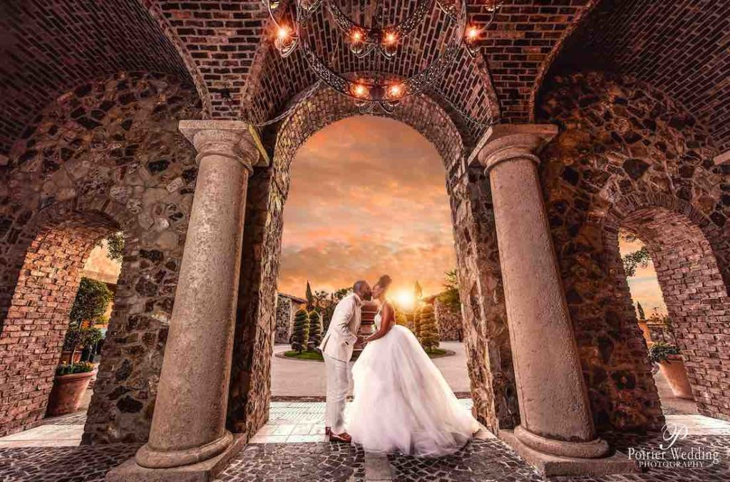 Valisha and Philip Pastel and Gold Bella Collina Wedding A Chair Affair Kiss