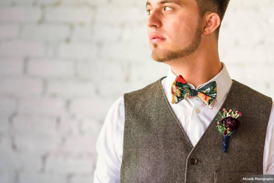 haus 820 a chair affair groom bow tie bohemian simplicity