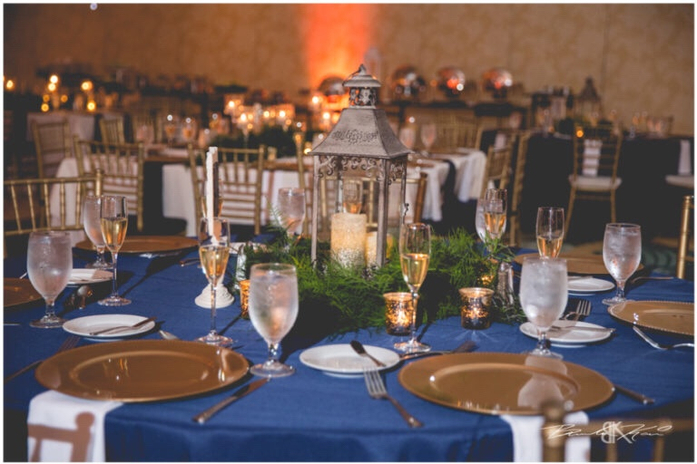 Cream and champagne Orlando wedding Omni Resort at Championsgate Brandon Kari Productions A Chair Affair Gold Glass chargers and gold Chiavari chairs at reception
