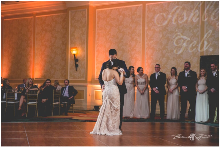 Cream and champagne Orlando wedding Omni Resort at Championsgate Brandon Kari Productions A Chair Affair gold Chiavari chairs at reception