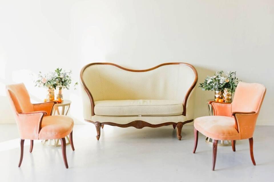 morean center a chair affair nellie vintage settee sara chairs