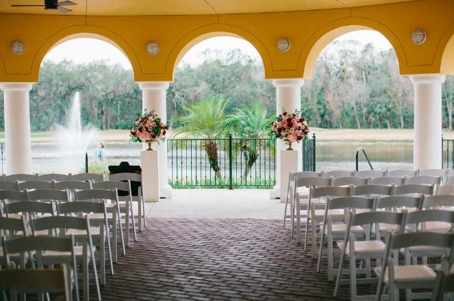 ACA White Chairs Tampa Bay Wedding