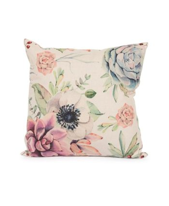 Beige Floral Pillow - A Chair Affair Rentals