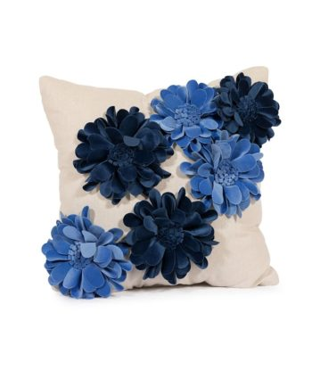 Blue 3-D Flower Pillow - A Chair Affair Rentals