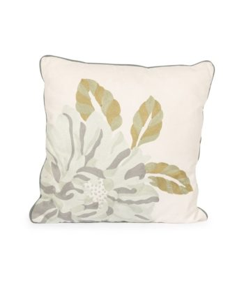 Blue Flower Linen Pillow - A Chair Affair Rentals