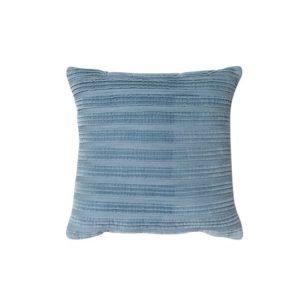 Blue Pleated Texture Pillow - A Chair Affair Rentals