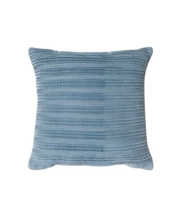 Blue Pleated Texture Pillow - A Chair Affair Rentals