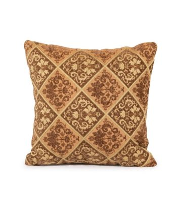 Brown and Gold Texture Pillow - A Chair Affair Rentals
