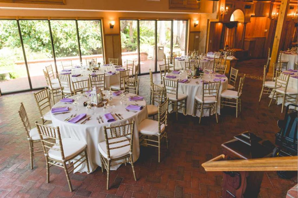 Florida Rustic Spring Wedding A Chair Affair Gold Chiavari chairs at reception Mark Dickinson Photography