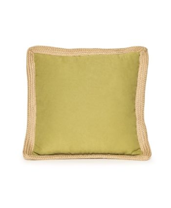 Lime Green Jute Trim Pillow - A Chair Affair Rentals