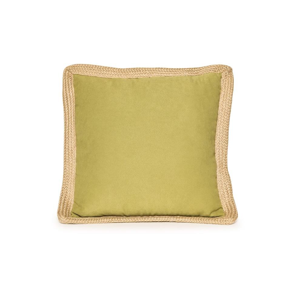 Lime Green Jute Trim Pillow - A Chair Affair Rentals