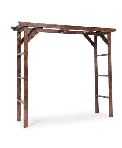 Mahogany Wood Wedding Arch – A Chair Affair Rentals