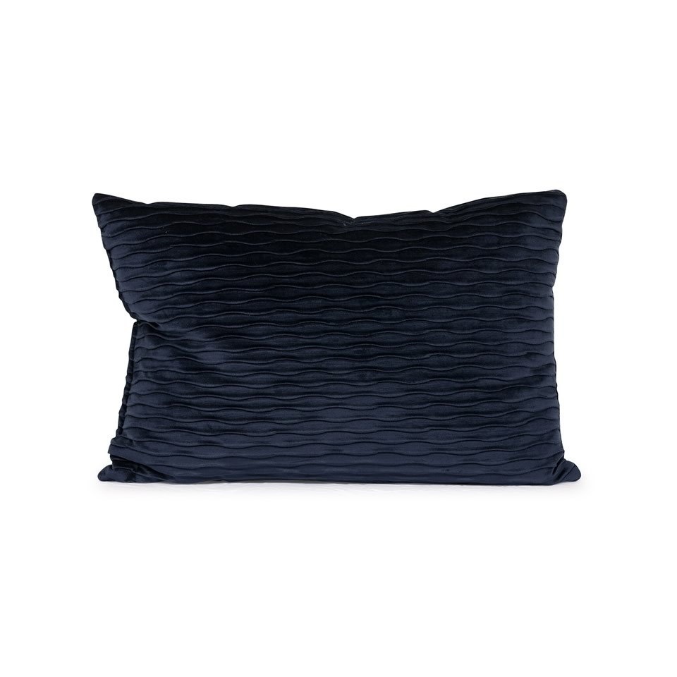 Navy Blue Ripple Pillow - A Chair Affair Rentals