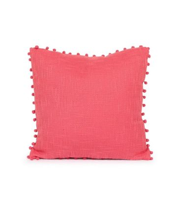 Rosy Pink Pillow with Pom Poms - A Chair Affair Rentals