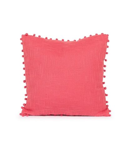 Rosy Pink Pillow with Pom Poms – A Chair Affair Rentals