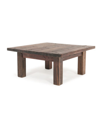 Rustic Farm 3x3 Coffee Table - A Chair Affair Rentals
