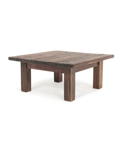 Rustic Farm 3×3 Coffee Table – A Chair Affair Rentals