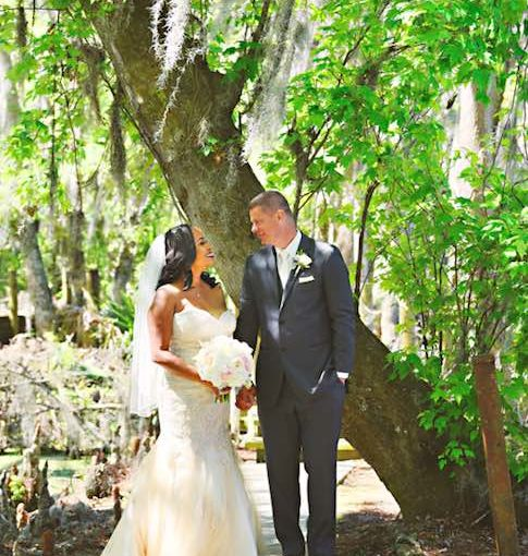 Classic Mission Inn Resort Wedding with Couple