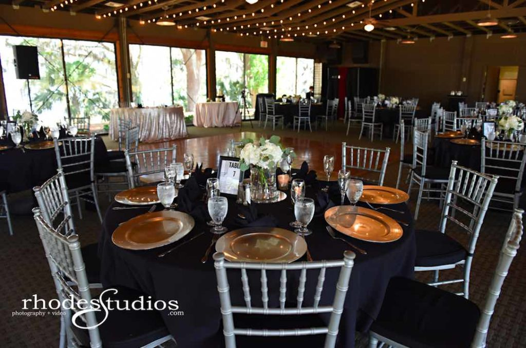 Classic Mission Inn Resort Wedding reception Silver Chiavari Chairs