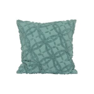 Vintage Blue Chenille Pillow - A Chair Affair Rentals