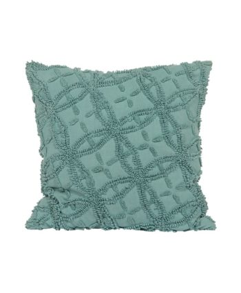 Vintage Blue Chenille Pillow - A Chair Affair Rentals