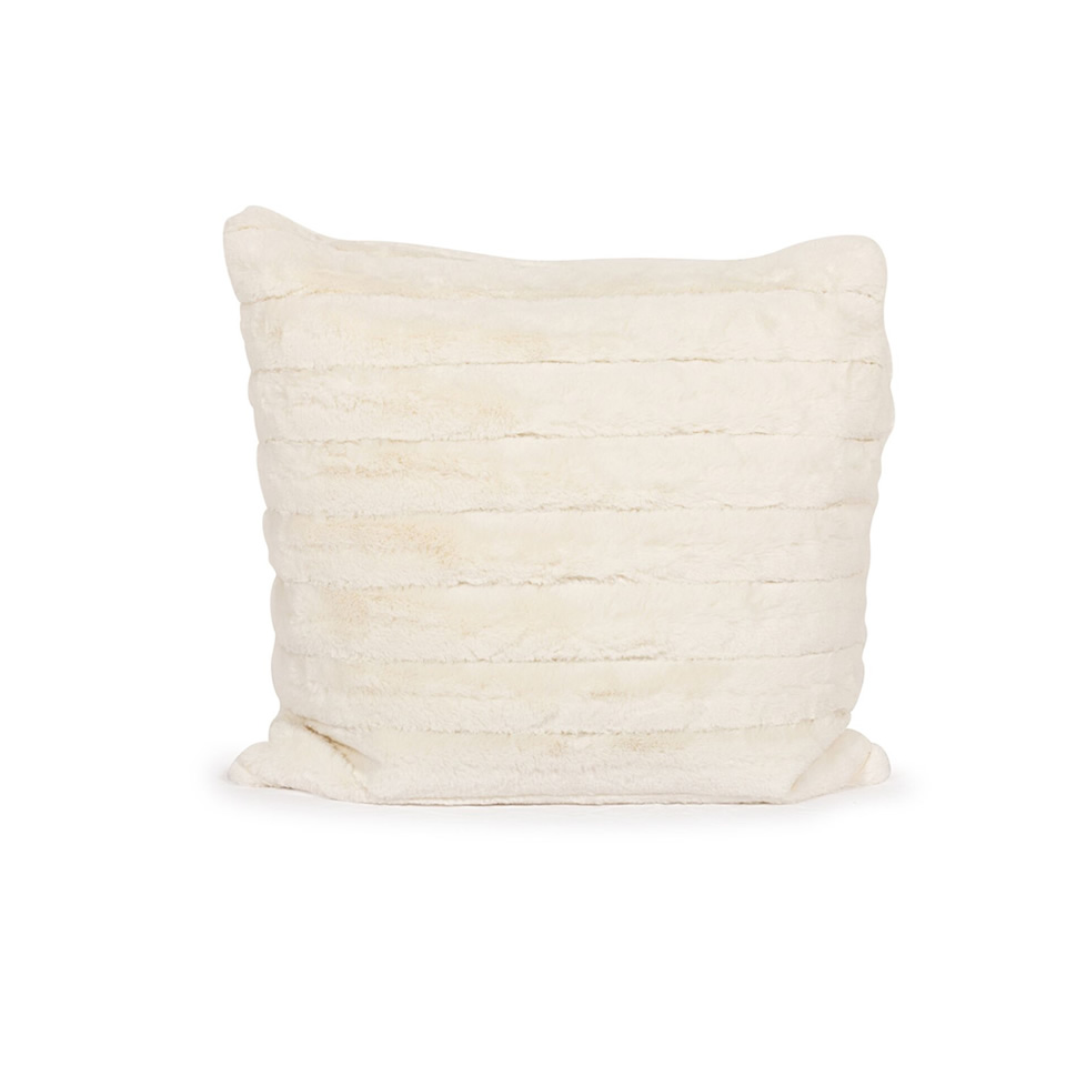 White Faux Fur Pillow - A Chair Affair Rentals