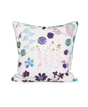 White Floral Pillow - A Chair Affair Rentals