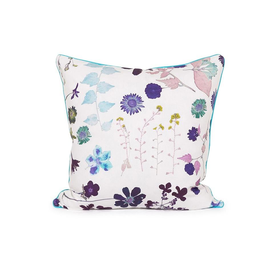 White Floral Pillow - A Chair Affair Rentals