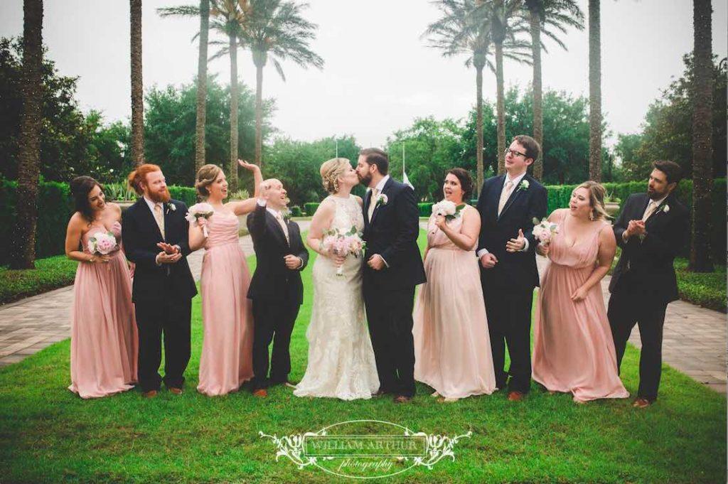 blush and gold Reunion Resort wedding 2