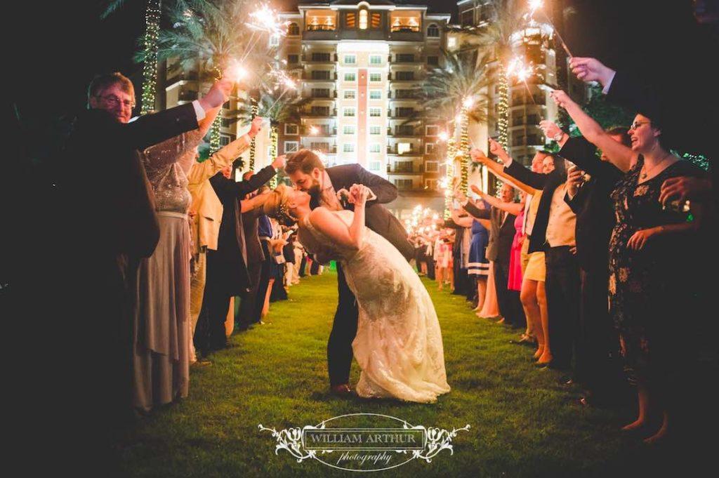 blush and gold Reunion Resort wedding 3