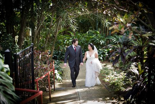intimate tampa wedding venue a chair affair couple walking